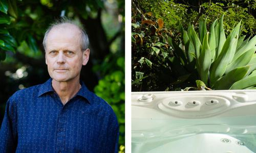 Roland Burgmann says in the event of an earthquake, his jacuzzi could be a source for water.