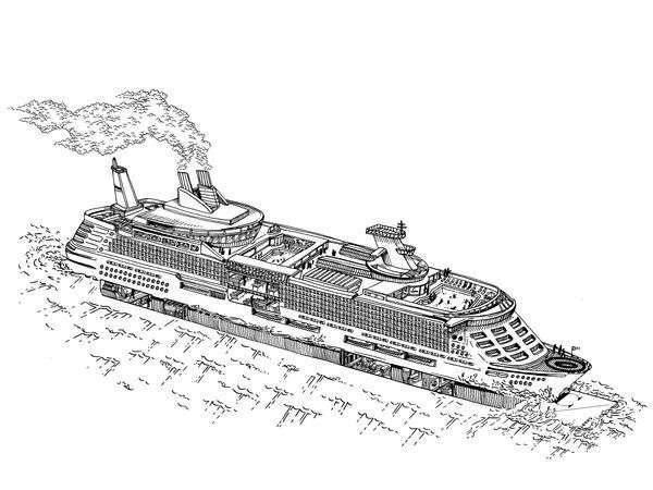 Mega-liner cruise ship