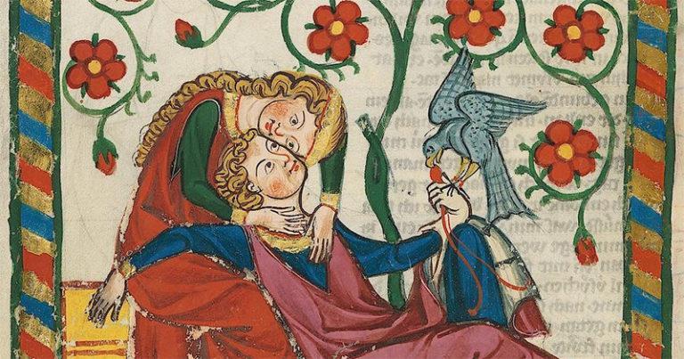 medieval manuscript love