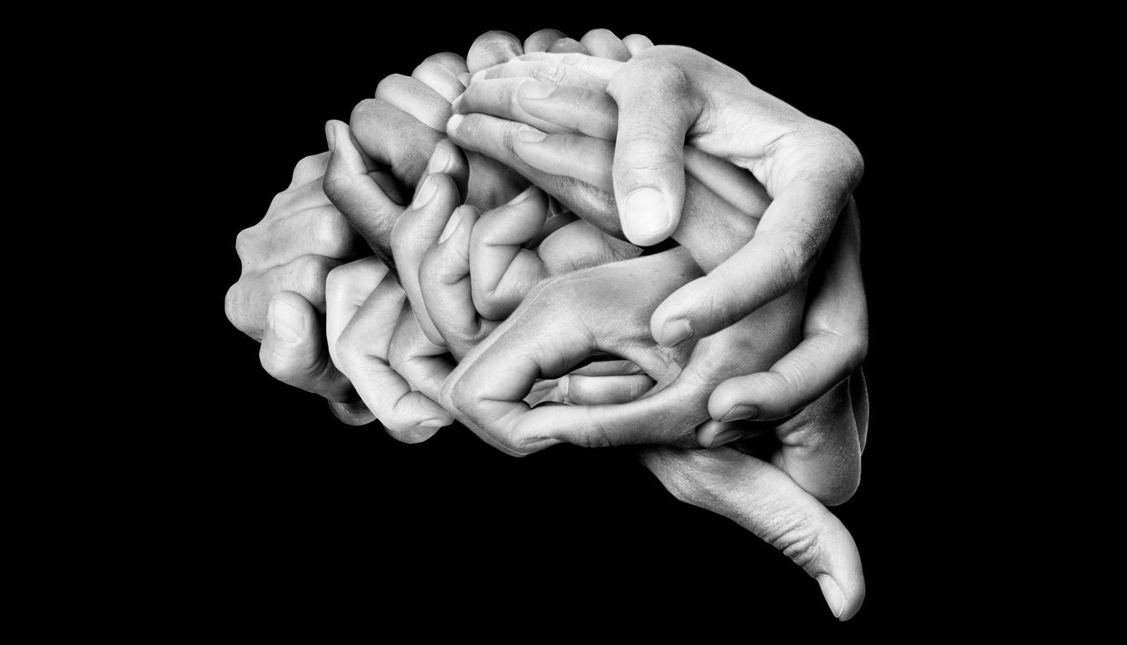 how we understand metaphors - brain made of hands concept