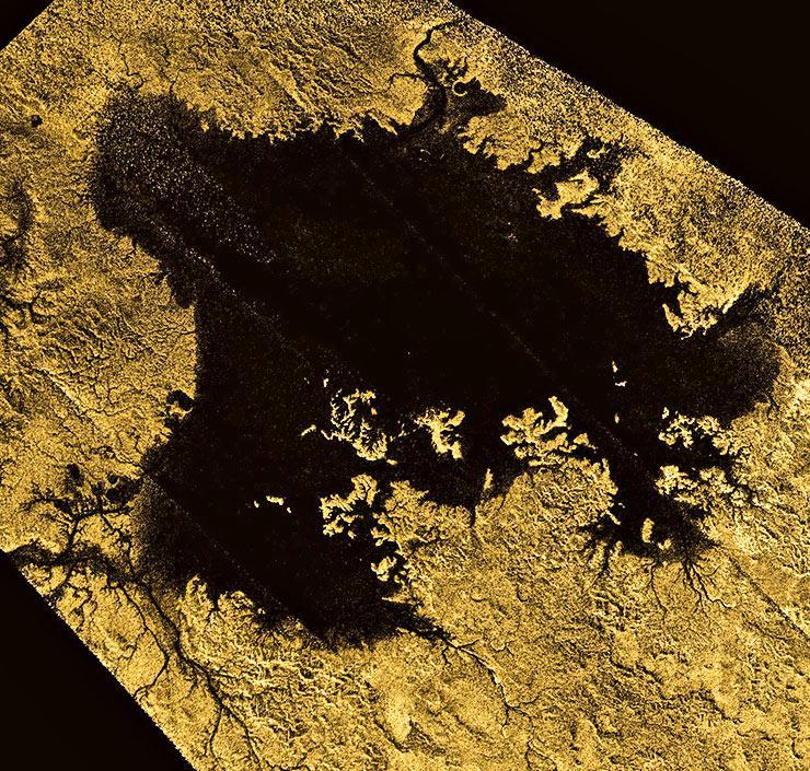 topographic map of Titan