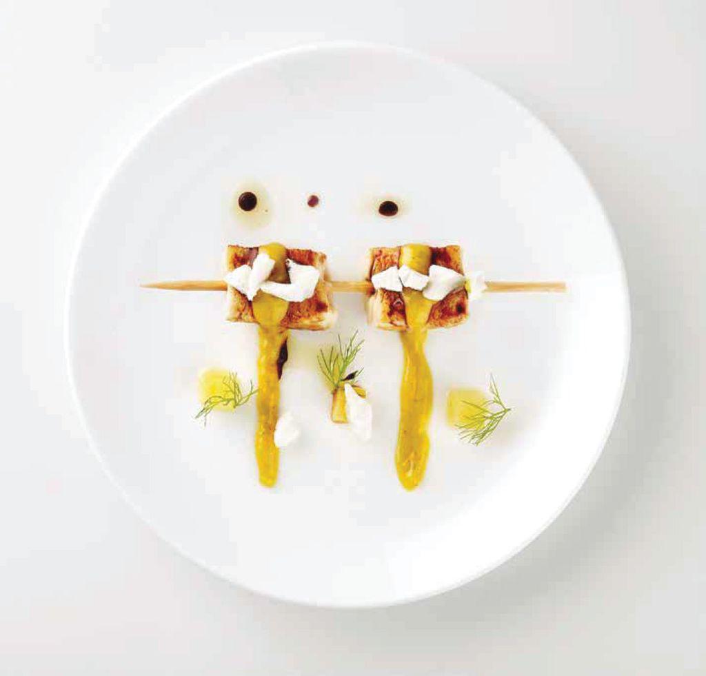 Brochetas de pollo al curry con coco