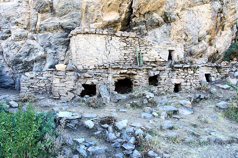 Above-ground tombs in Peru