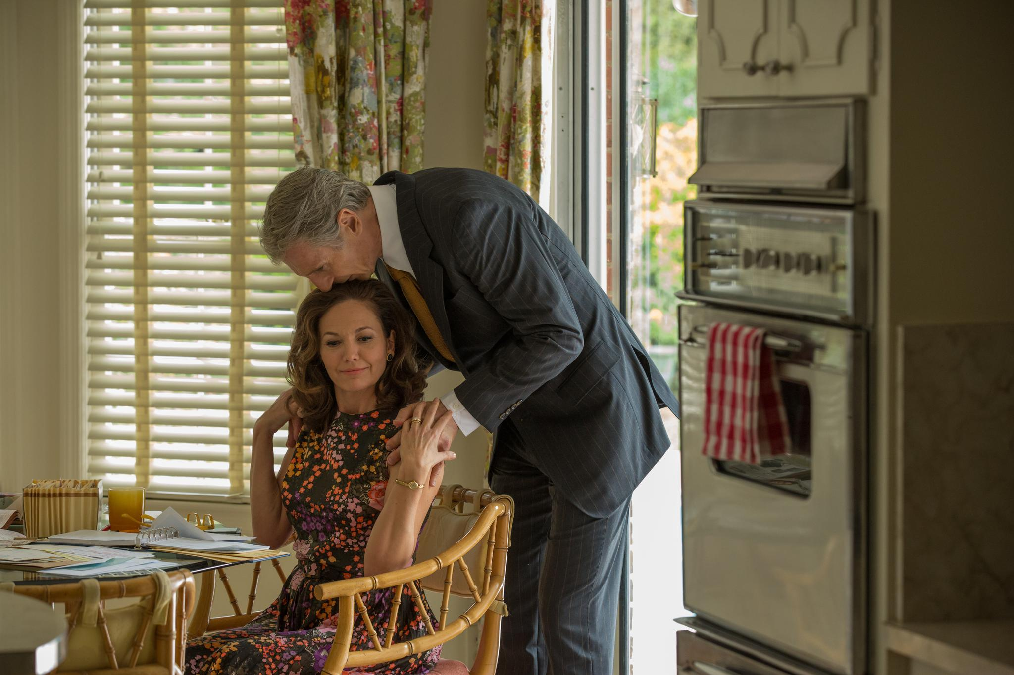 """Liam Neeson as Felt, and Diane Lane as his wife, Audrey, in """"Mark Felt: The Man Who Brought Down the White House."""""""