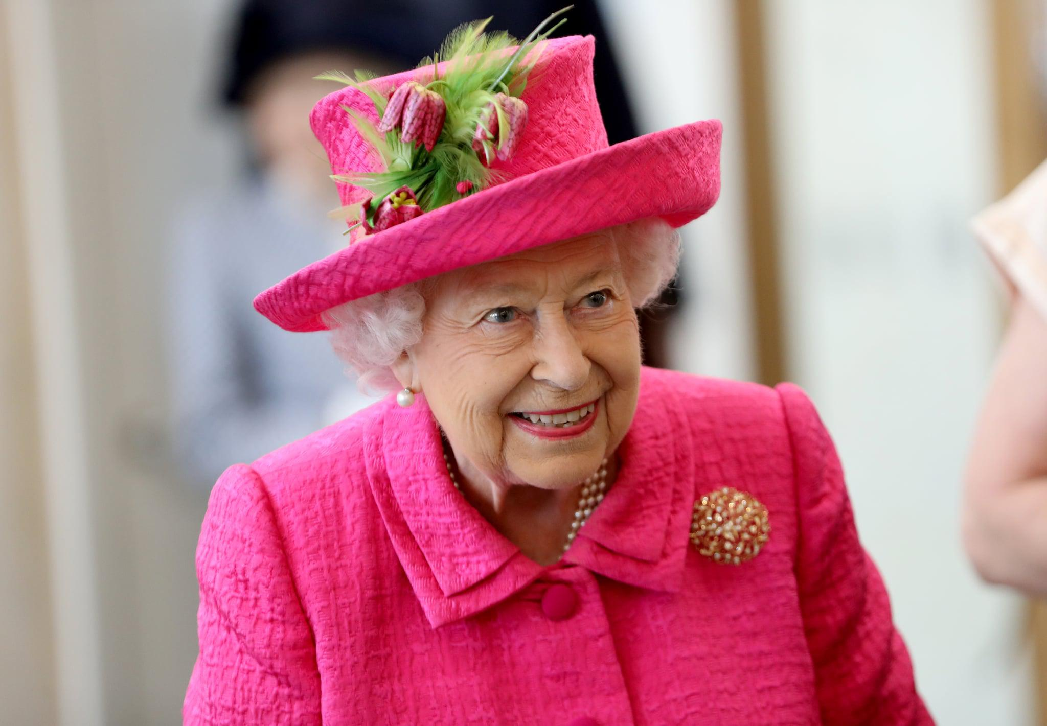 CAMBRIDGE, ENGLAND - JULY 09:  Queen Elizabeth II during a visit to the NIAB, (National Institute of Agricultural Botany) on July 09, 2019 in Cambridge, England. (Photo by Chris Jackson/Getty Images)