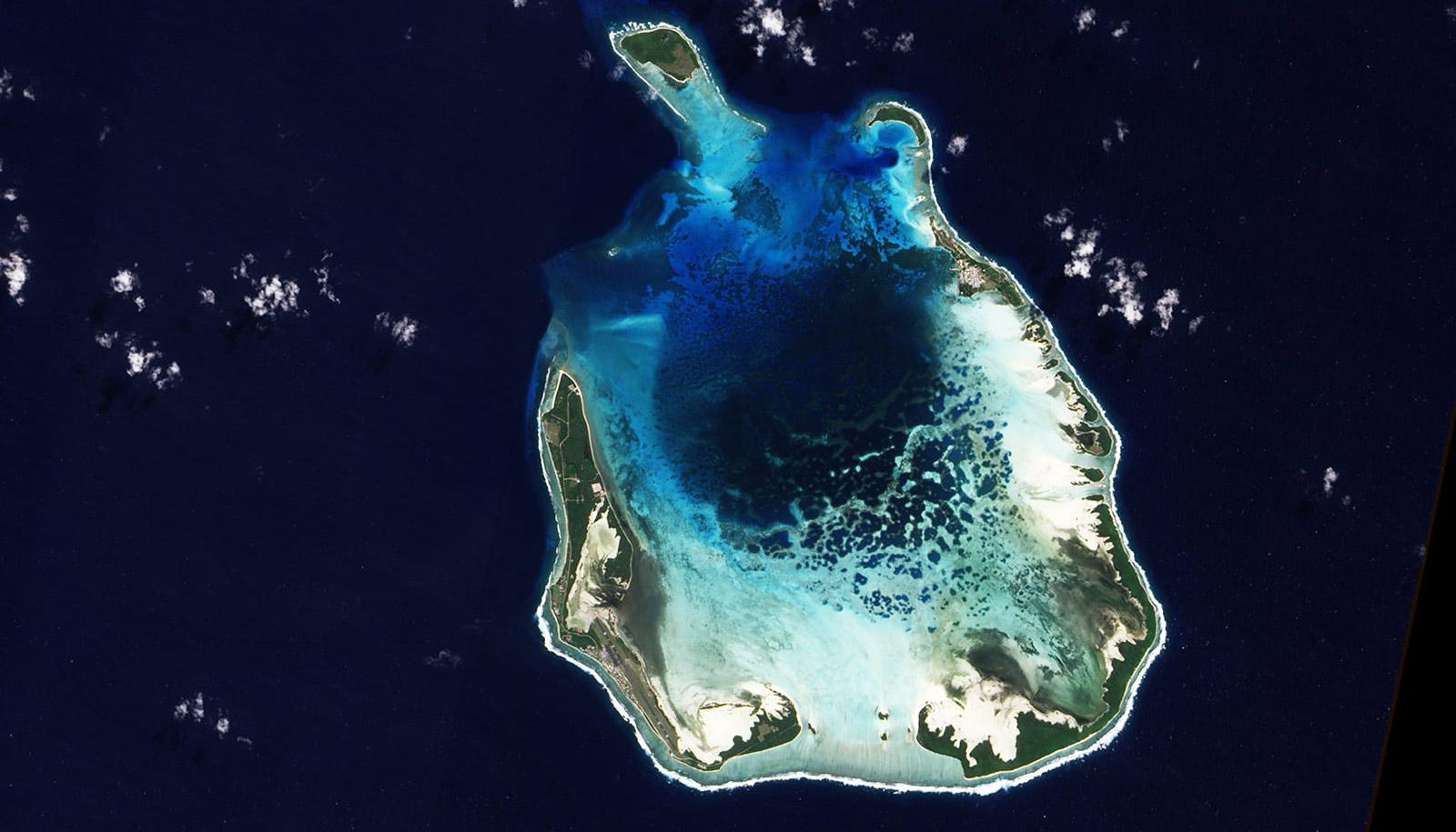 atoll from above