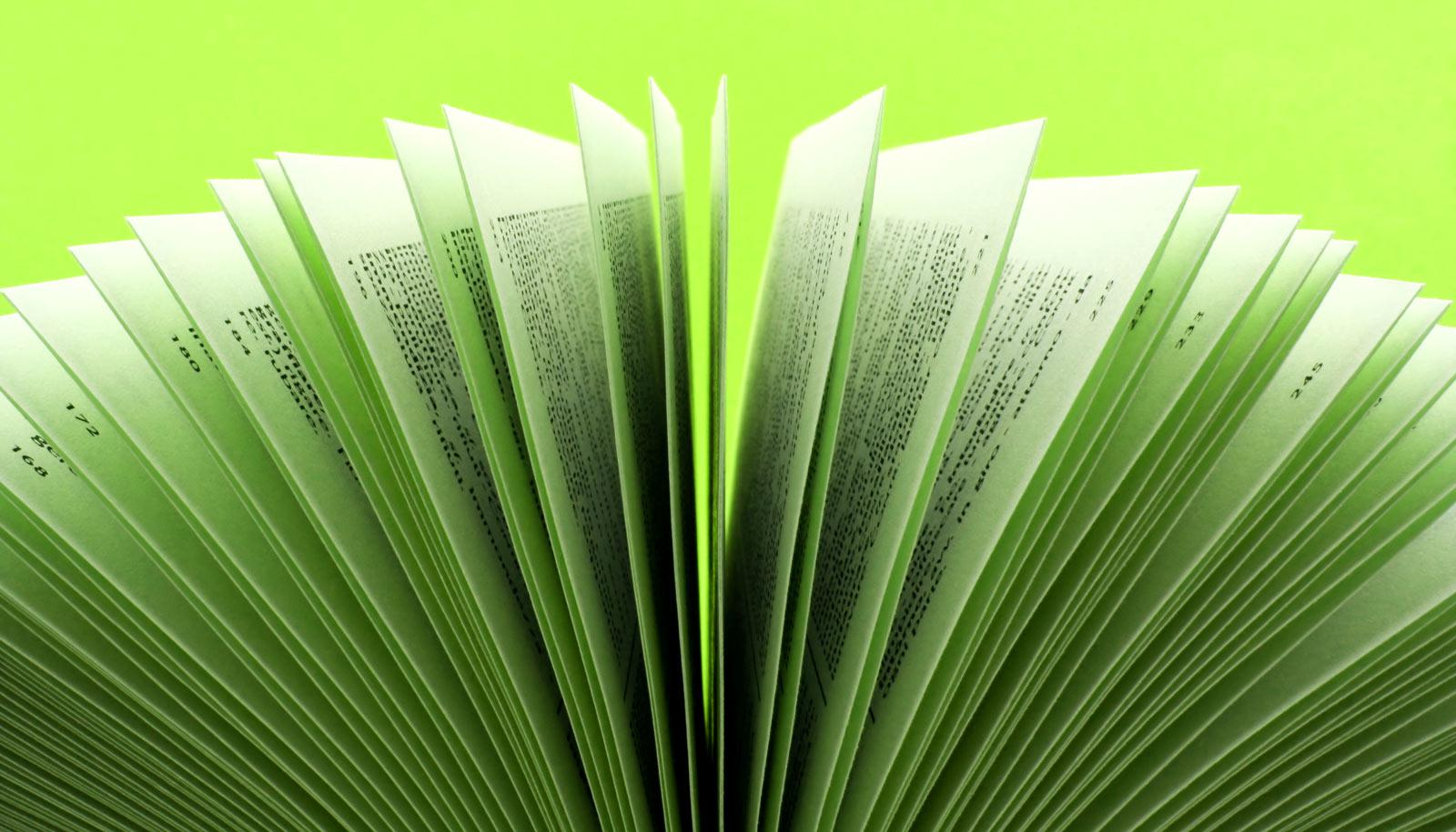 book pages fanned out