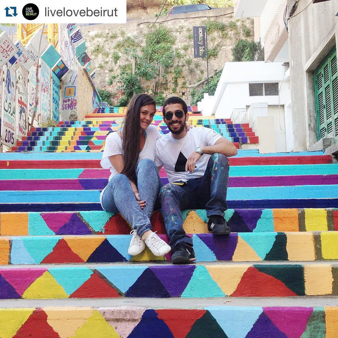 Lana Chucri and Jubran Elias, 'Paint Up' co-founders. Source: Instagram.