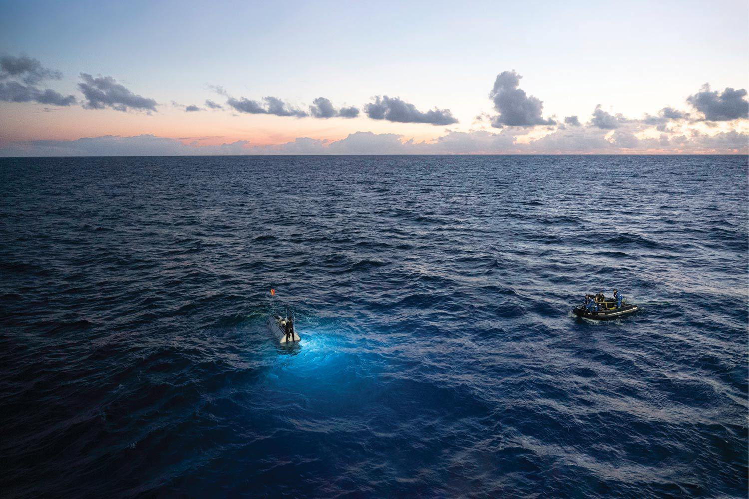 """""""We feel like we have just created, validated, and opened a powerful door to discover and visit any place, any time, in the ocean,"""" says Five Deeps' Vescovo."""