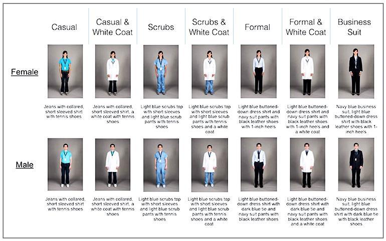 doctor attire study