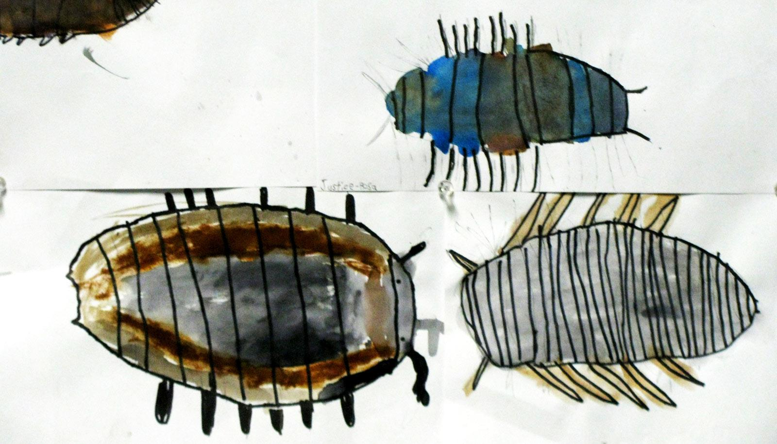 children's paintings of insects