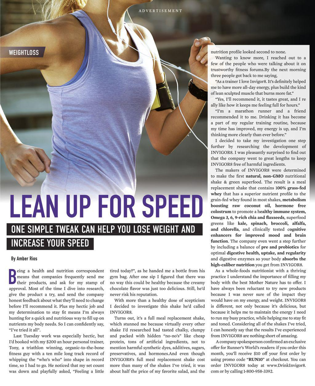 Lean Up For Speed | Scribd