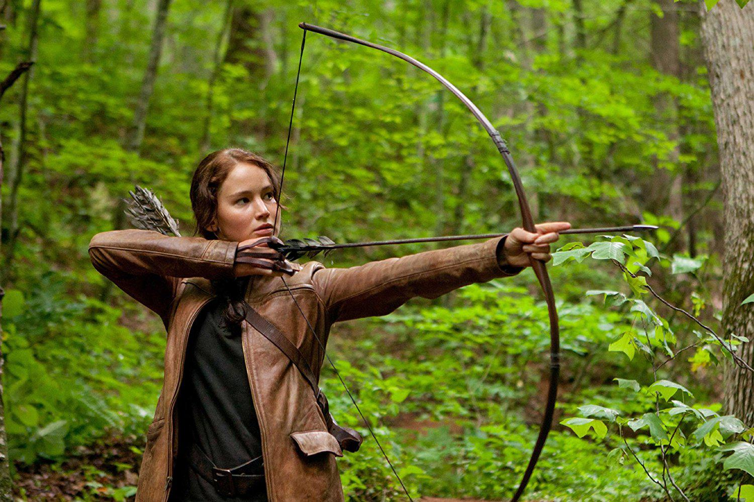 Jennifer Lawrence in The Hunger Games (2012).