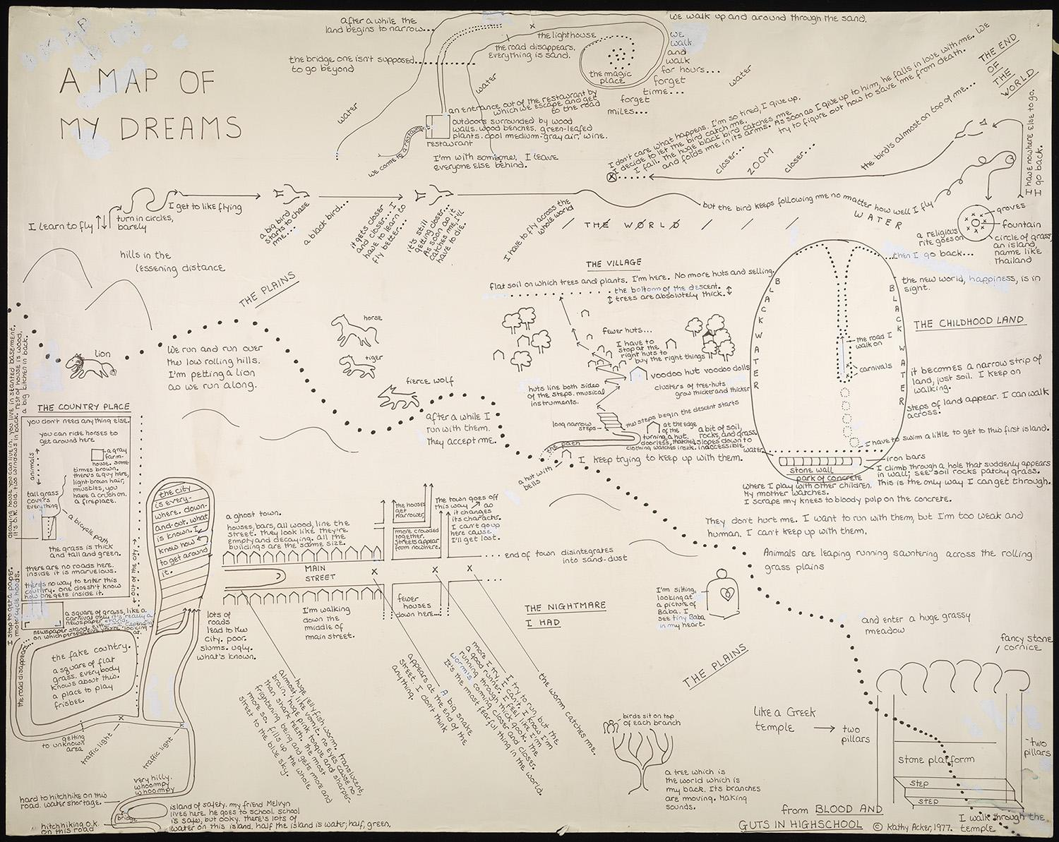 Kathy Acker dream map