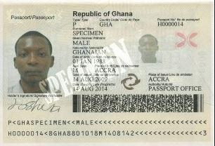 Biographical data page from the Ghanaian biometric passport. via wikipedia