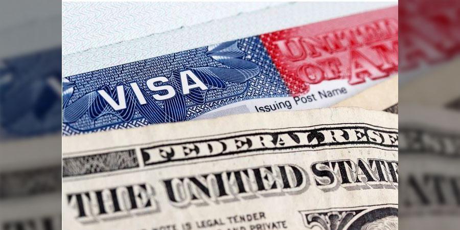 Partial US Visa image, via Buzzghana with permission