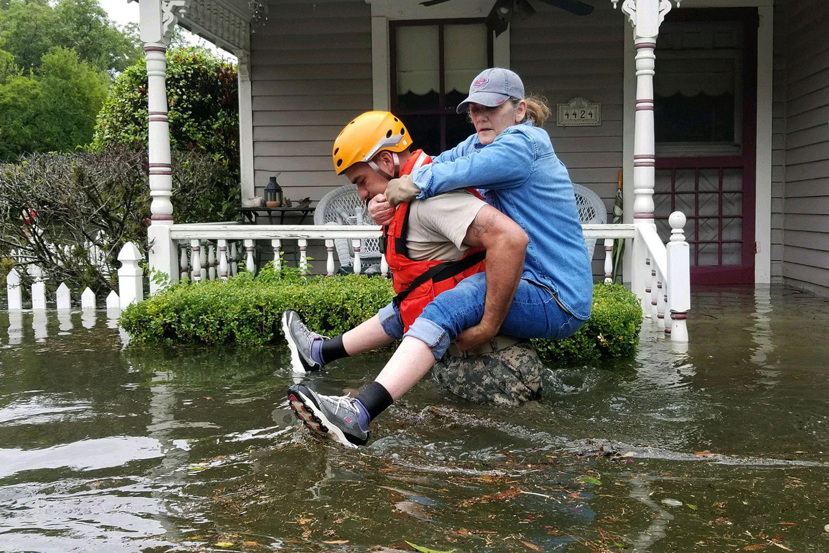 People giving birth in the Hurricane Harvey's wake had an increased risk of medical complications, as did their newborns.