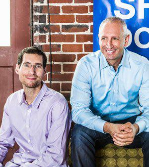 Easy money: Crushpath founders Matt Wilkinson (left) and Sam Lawrence.