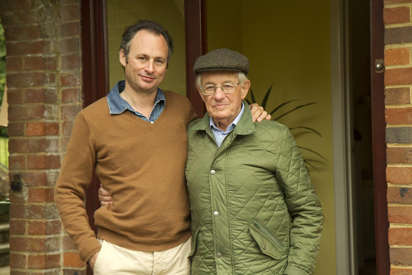 Edgar Feuchtwanger (right) is pictured with his co-author, Bertil Scali.