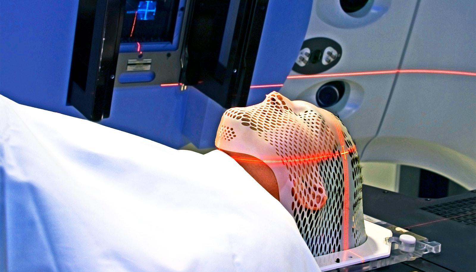 patient getting radiation treatment