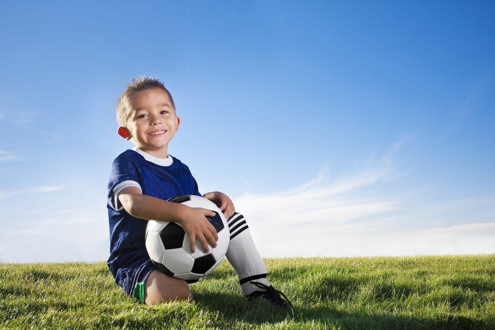 Little Boy Soccer Player