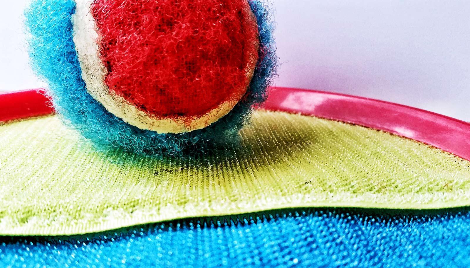 tennis ball on velcro