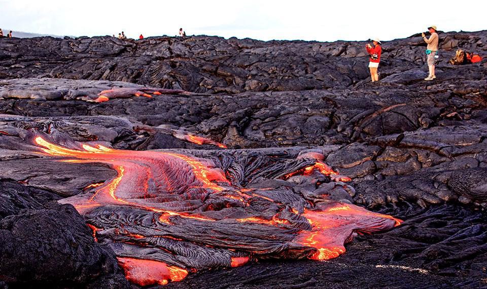Kilauea lava, as seen in August 2017.