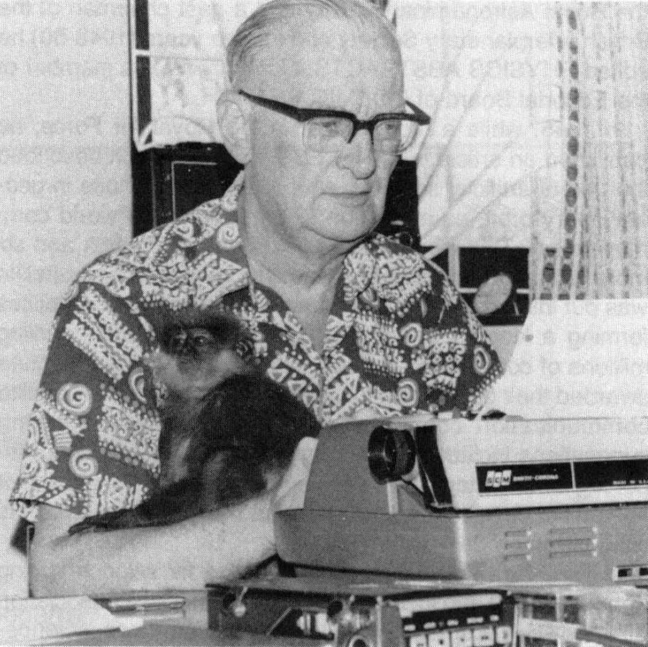 Arthur C Clarke monkey