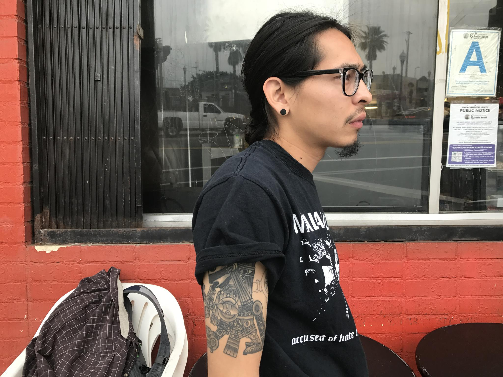 Angel Luna, an activist with Defend Boyle Heights.