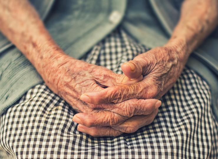 Alzheimer's disease, photograph by hands by Cristian Newman