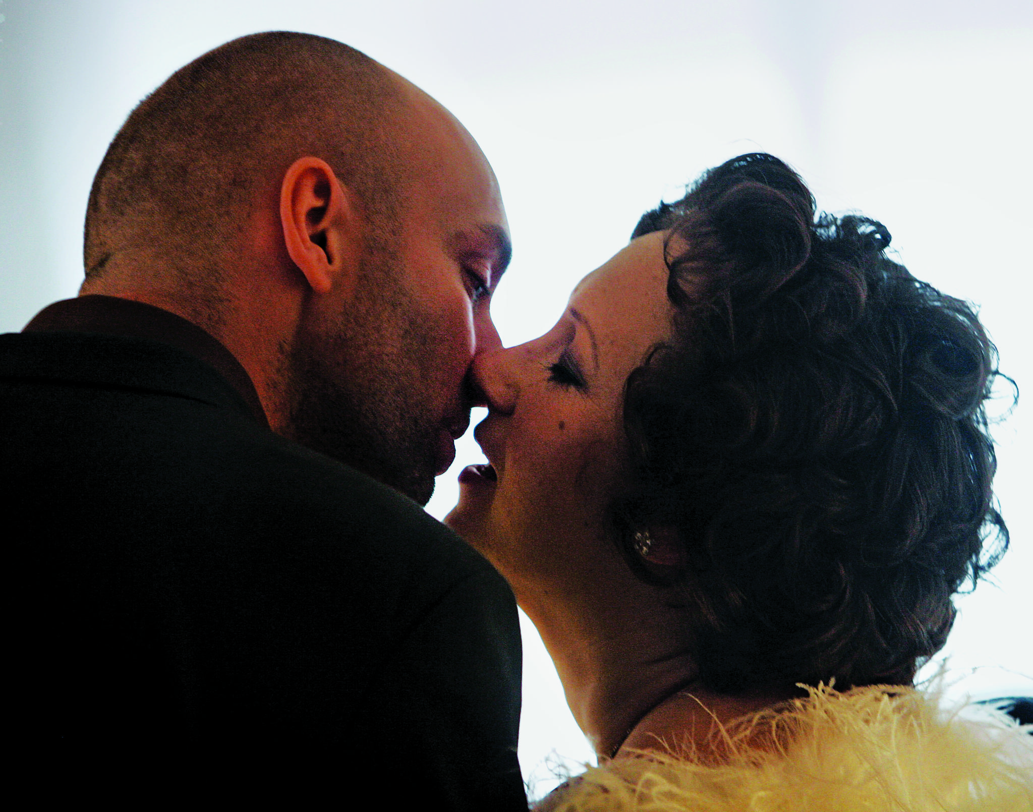 David Stanley and Rebekah Robbins, both of Sheffield, England, kiss after being married at the Empire State Building in New York, on February 14, 2007. Robbins met Stanley on the internet after she started her fight with breast cancer, for which she continues treatment.