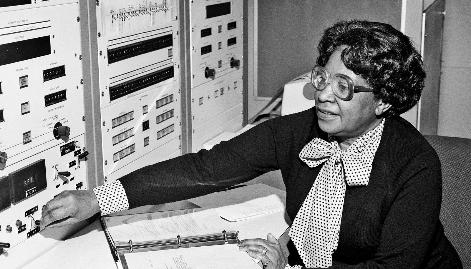 Mary Jackson working at NASA
