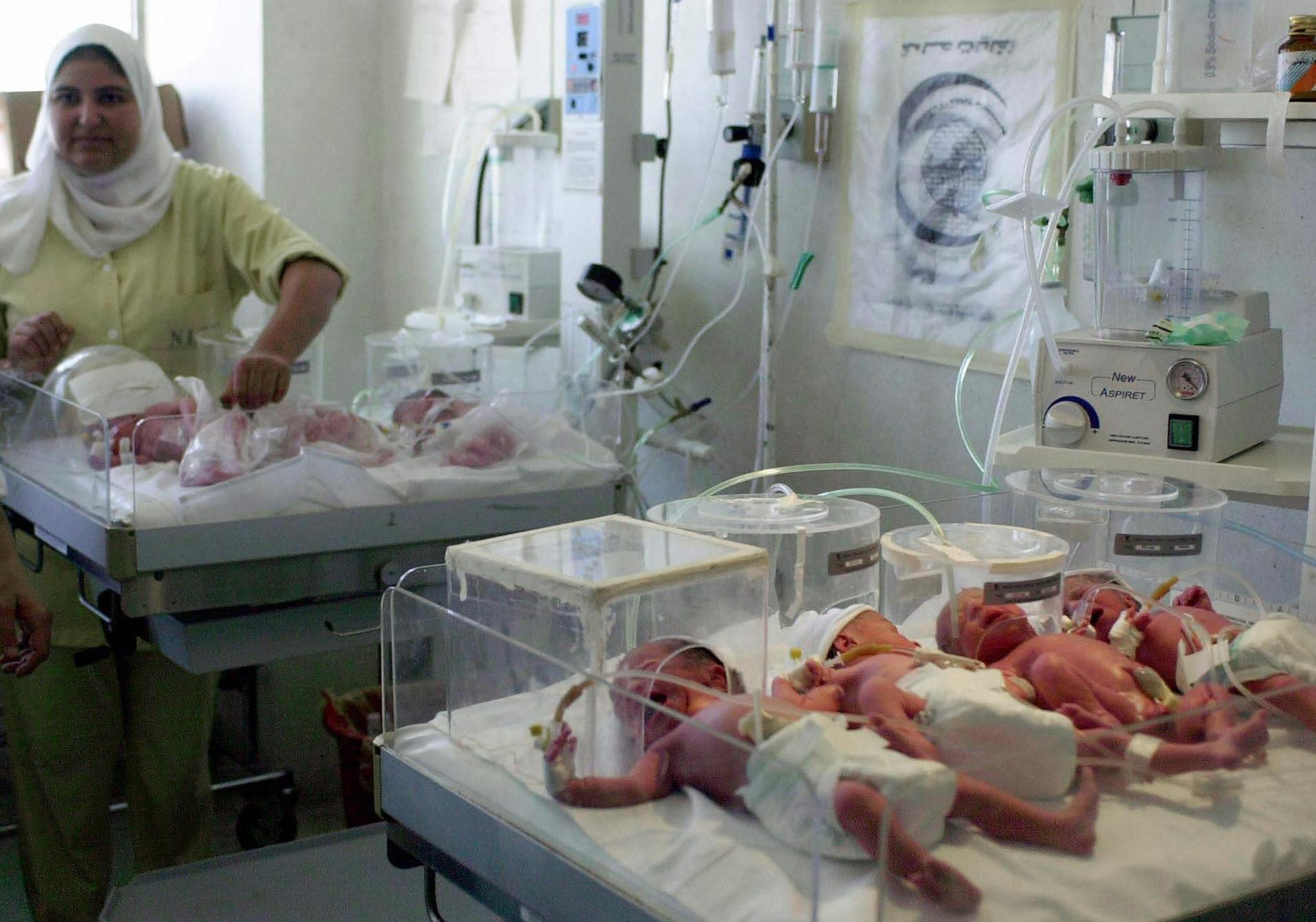 An Egyptian nurse monitors the newborn septuplets of a woman who gave birth to four boys and three girls at the hospital of the University of Alexandria on August 16, 2008. Not easy at all. Egypt's population rose to almost 93 million earlier this year; demographers project that the country's total will be 150 million by 2050.