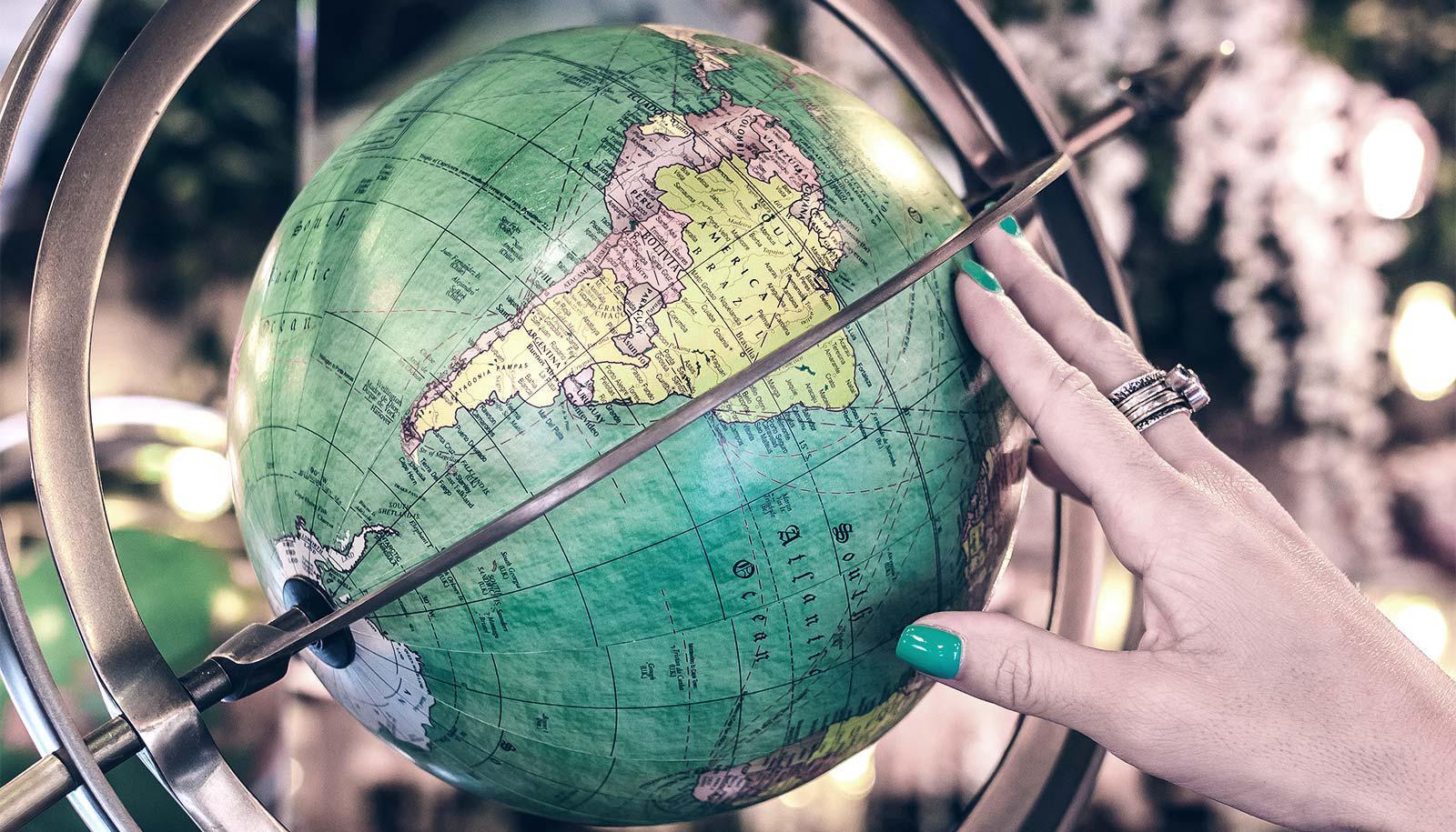 touching globe - weather prediction