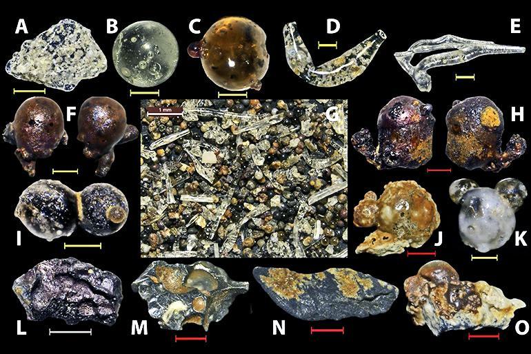 glassy beads from Hiroshima beaches