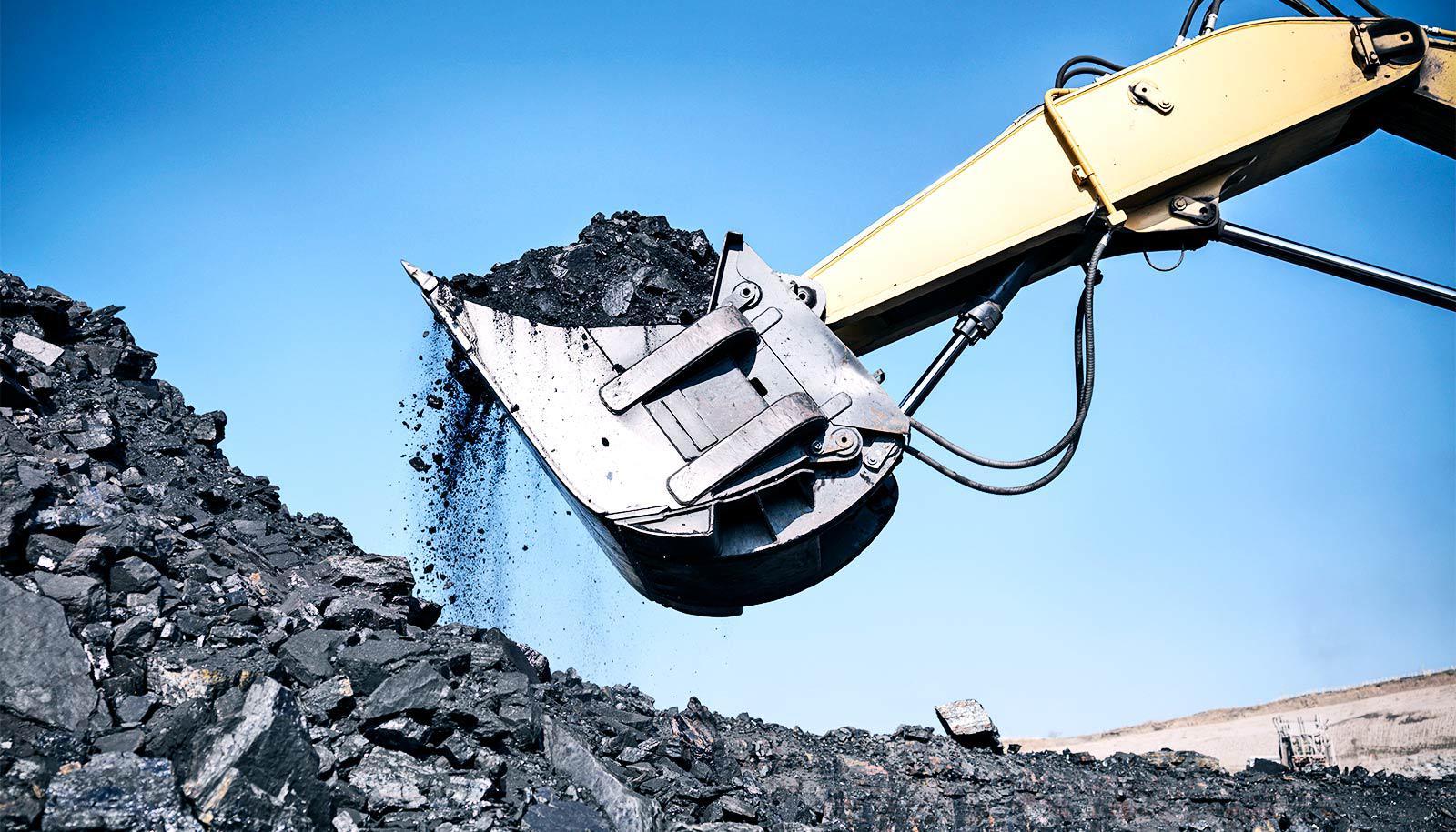 shoveling coal