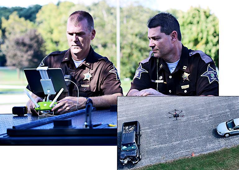 police using drone crash analysis