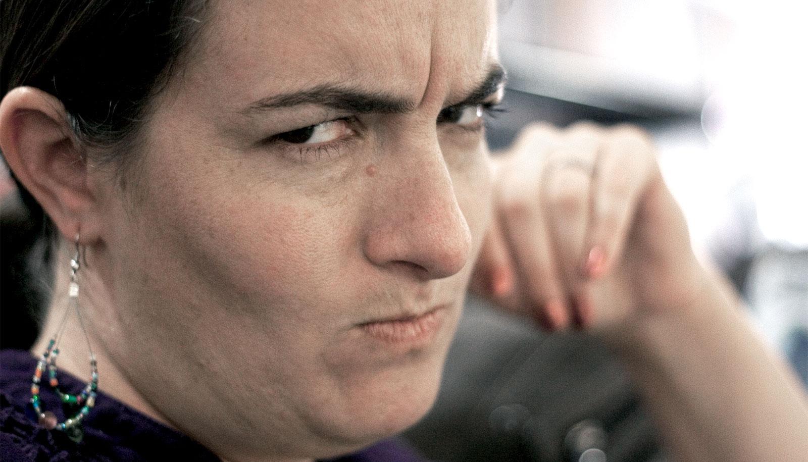 fake angry face