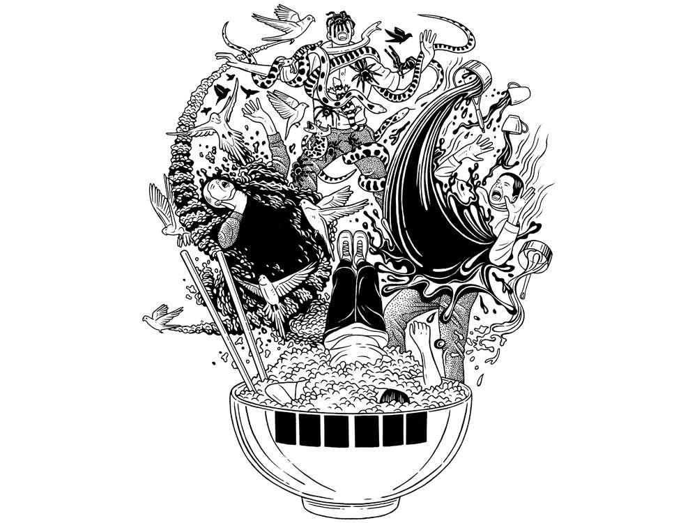 skull death illustration