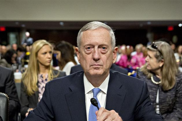 James Mattis, then the secretary of defense nominee, arrives at a Senate Armed Services Committee confirmation hearing on Jan. 12, 2017. (Andrew Harrer/Bloomberg via Getty Images)