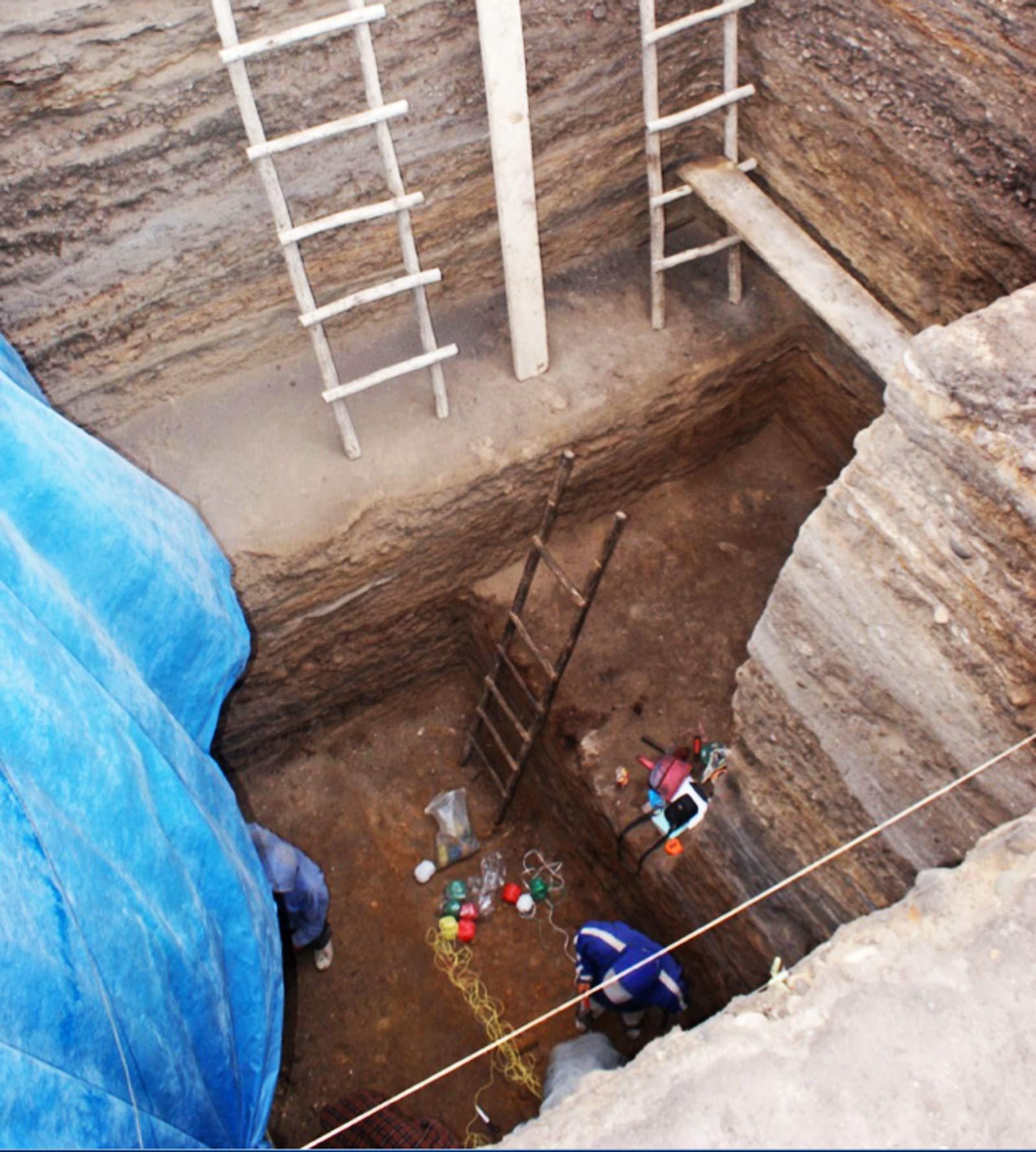 Huaca Prieta excavation