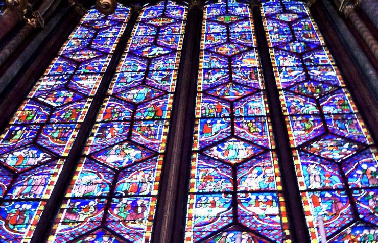 Sainte Chapelle stained glass window