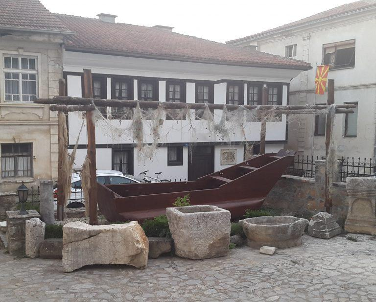 Fishing boat from Ohrid, Macedonia, museum reconstruction.