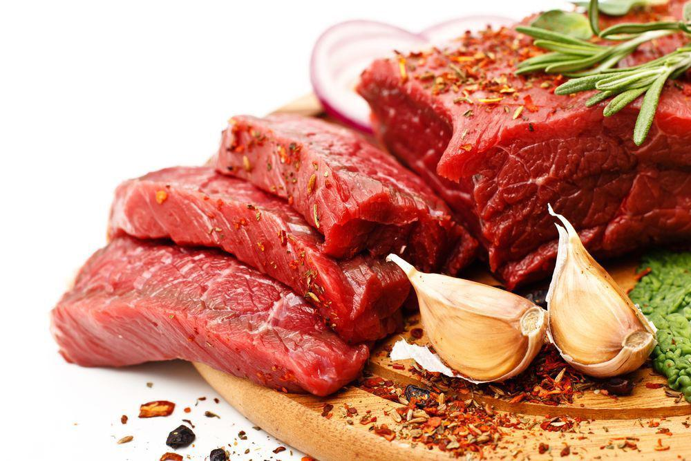 cut up beef