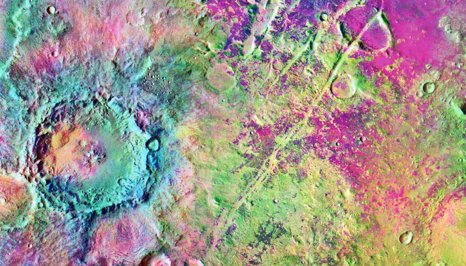 Nili Fossae mineral deposit