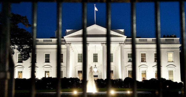 scary white house