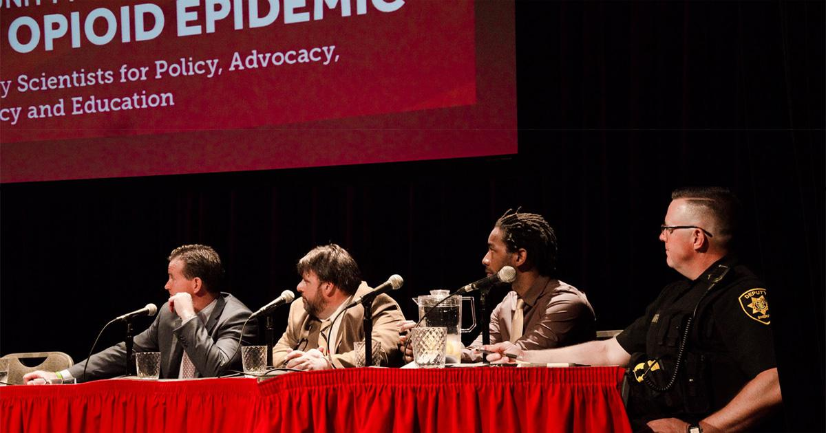 Panel of speakers at the Opioid Epidemic Forum.