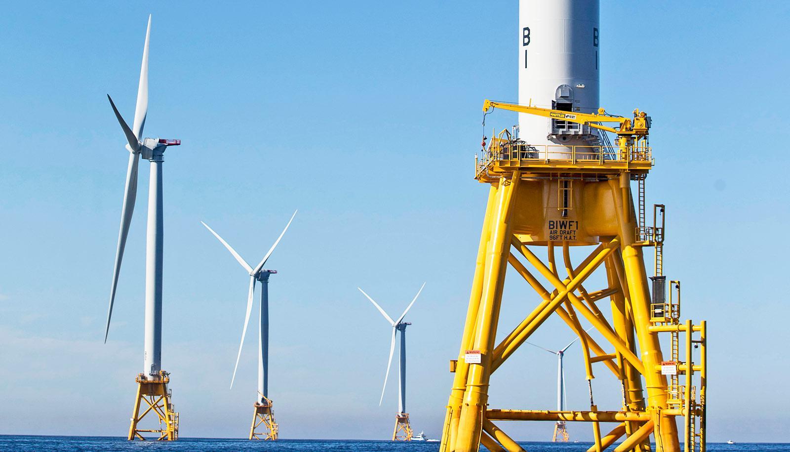 wind farm off Block Island, RI