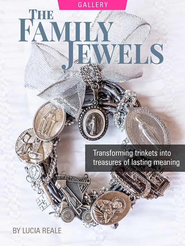 Family jewels made into decorative ornament by Lucia Reale. Photograph by Franco Vogt