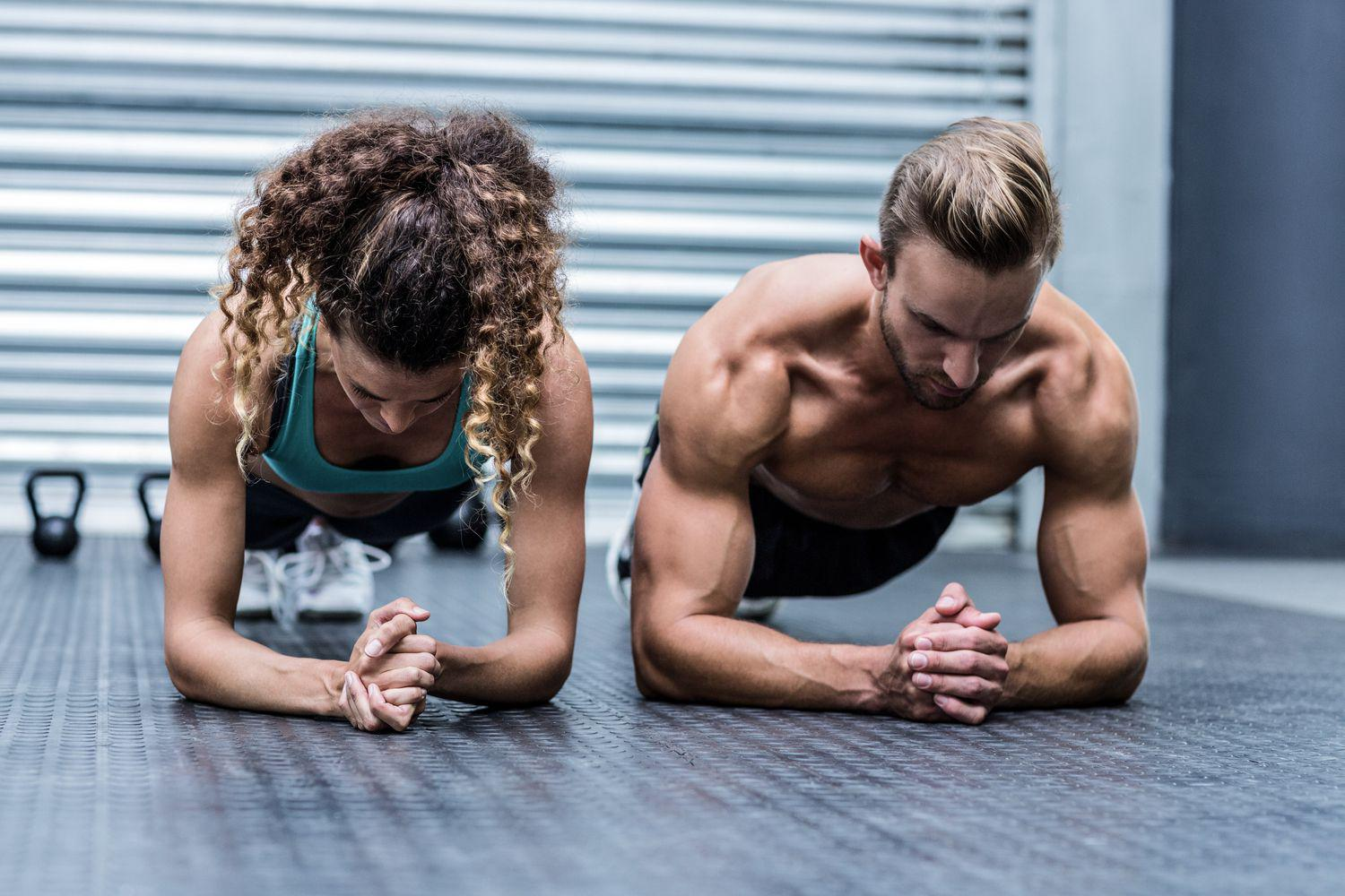Just two people working out alone, together.